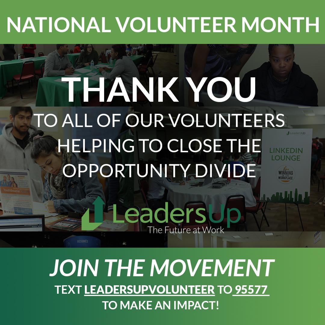Celebrating LeadersUp Volunteers!